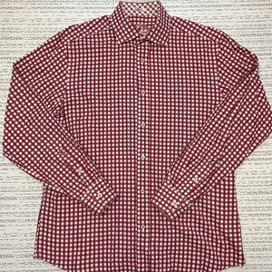 Bugatchi Shaped Fit Gingham Check Button Up Shirt